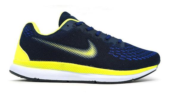 Tênis Nike Zoom Pegasus 34 Azul Marinho E Verde Original!
