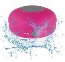 Caixinha De Som Portátil C/ Ventosa Prova De Água Bluetooth