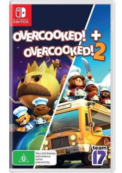 Overcooked! + Overcooked! 2 Switch Midia Fisica