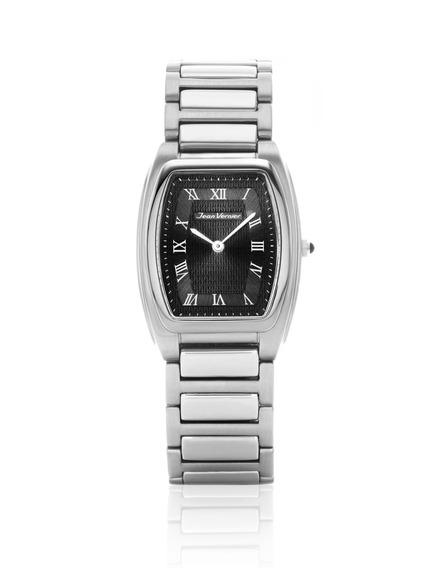Relógio De Pulso Jean Vernier Jv01594 Unissex Prata+preto