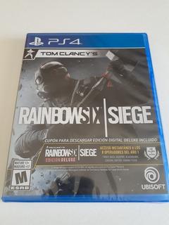 Rainbow Six Siege Deluxe Edition Ps4 Nuevo Fisico Sellado