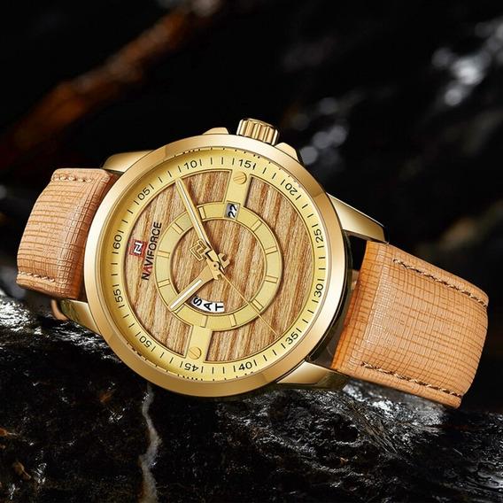 Relógio Naviforce Dourado 9151 Frete Grátis Pronta Entrega