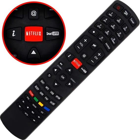 Kit 7 Controle Tv Philco Led Lcd Smart 3d Netflix Ph55m Ph58