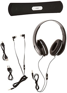 Coby Cmb-102-blk Auriculares Con Micrófono Incorporado Y Al