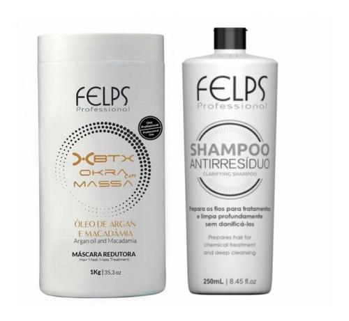 Imagen 1 de 3 de Botox Capilar Felps Argan Y Macadamia Kit Lt Botox + Shampoo