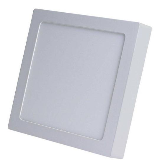 Painel Plafon Led Quadrado Sobrepor 25w Branco Frio Bi-volt