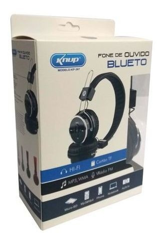 Fone De Ouvido Bluetooth Kp-367 Knup