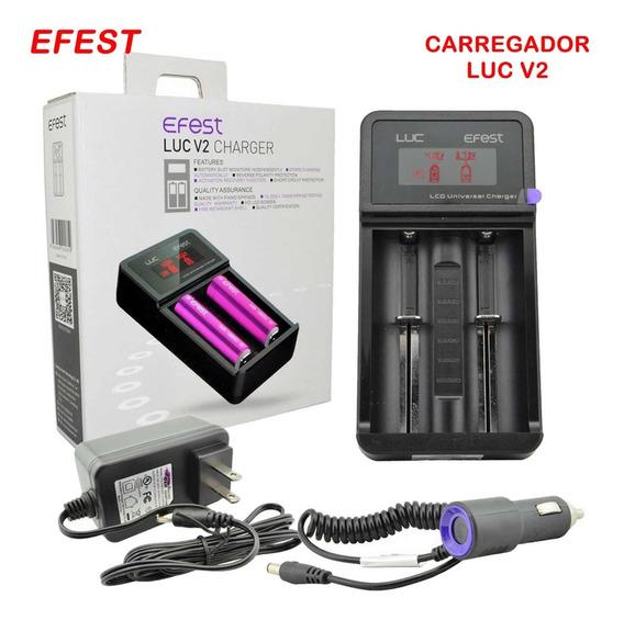 Carregador Bateria Efest Luc V2 P/ 3.6v 3.7v Li-ion Vape
