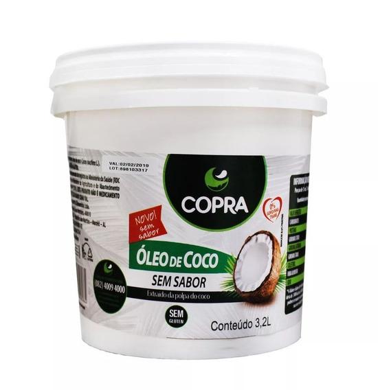 Óleo De Coco Sem Sabor 3,2l Balde - Copra