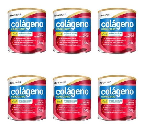 Imagem 1 de 1 de Maxinutri Colágeno Hidr 2em9 Fruta Vermelhas 250g (kit C/06)