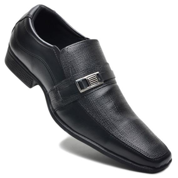 Sapato Social Masculino Casual Preto Barato Em 12x S/juros