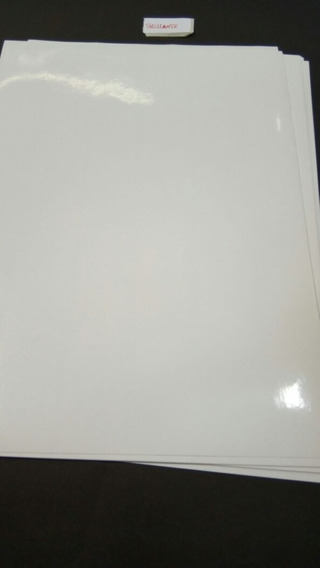 Resma Papel Adhesivo A4 Semi Glosi X 200 Hojas 80 Gr
