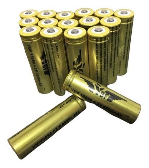 Bateria Recarregável 18650 9800mah 4.2v Ybf Lanterna Laser