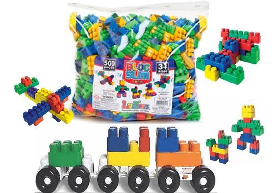 Blocos De Montar 500 Peças Brinquedo Educativos Promoção