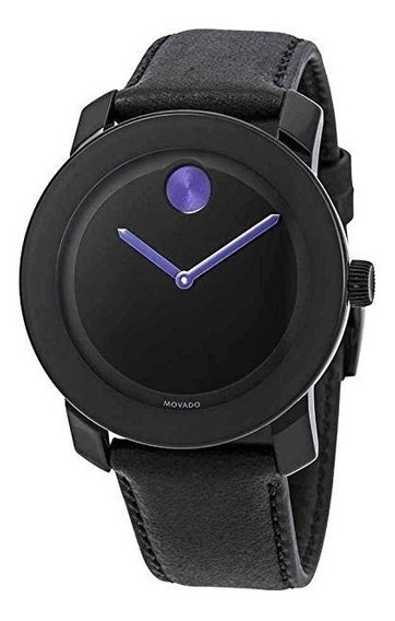 Relógio Movado 3600479 Bold Unisex Quartz Black Dial Purple