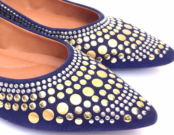 Sapatilha De Pedraria Luxo Hotfix Calçados Feminino Promoção