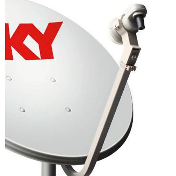 6 Antena Ku 60 Cm Lnb Duplo + 100 Metros Cabo Rg59