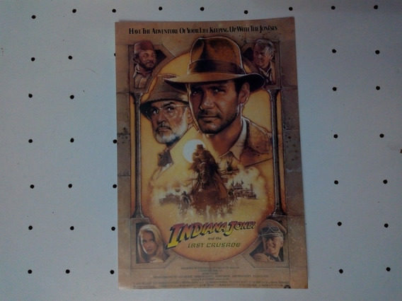 Tarjeta Postal Indiana Jones Made In Usa