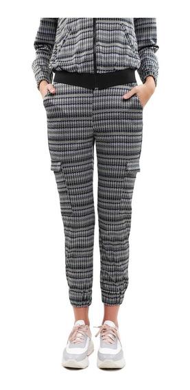 Pantalón Tipo Jogger Mujer Estampado Color Olivo Lob