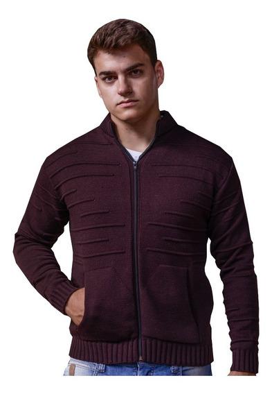 Jaqueta Masculina Casaco Blusa Sueter De Frio Malha Tricot