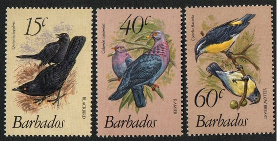 Fauna - Pájaros - Barbados 1982 - Serie Mint