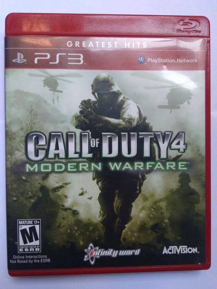 Jogo Call Of Duty 4 Modern Warfare Ps3 Midia Fisica R$35