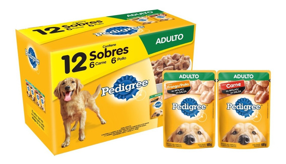 Pedigree Adulto 12 Sobres Carne Y Pollo