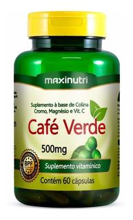 Café Verde 60 Cápsulas 500mg - Maxinutri