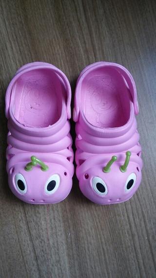 Sapato E.v.a. Infantil Para Meninas Rosa Com Antenas 25