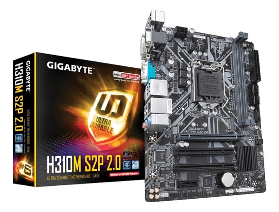 Placa-mãe Gigabyte P/ Intel 1151 H310m S2p 2.0 2xddr4 Matx