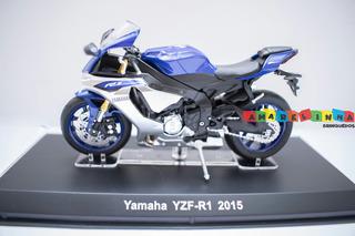 Miniatura Moto R1 Yzf Yamaha Azul 2015 1:18 Lançamento