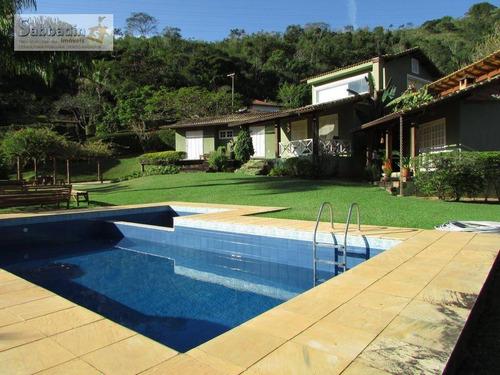 Excelente Casa Com 4 Dormitórios E Área De Lazer Completa, Próximo A Vila De Secretário À Venda Por R$ 2.150.000 - Secretário - Petrópolis/rj - Ca0307