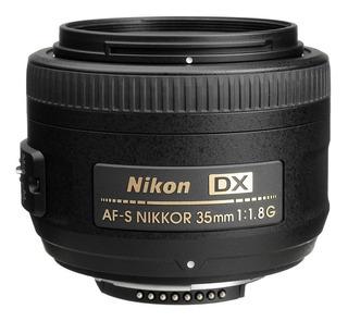 Lente Nikon Af S Dx 35mm F/1.8g + Parasol Reflex