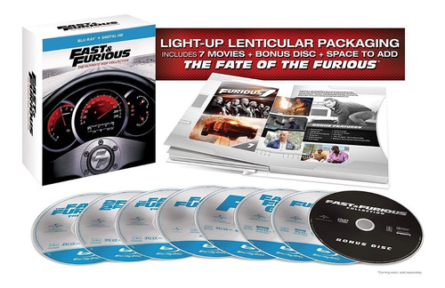 Fast & Furious The Ultimate Ride Collection Blu Ray Colector