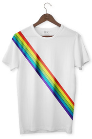 Camiseta Masculina Arco Íris Lgbt