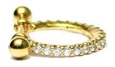 Piercing Cartilagem Conch Fl A Ouro Br Ou Amarelo 10mm