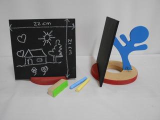 Pizarra Infantil 22x21cm C/atril De Mesa C/tizas Y Borrador