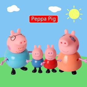 Bonecos Peppa Pig! Peppa,jorge Pais 4 Peças Leia Descrição