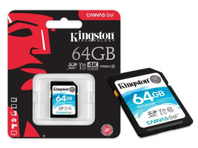 Cartão Sd 64gb Kingston Canvas Go Sdxd Classe 10 Original
