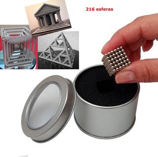 216 Esferas Magnéticas Cromada Imã Neodímio 3mm Arte De Imã