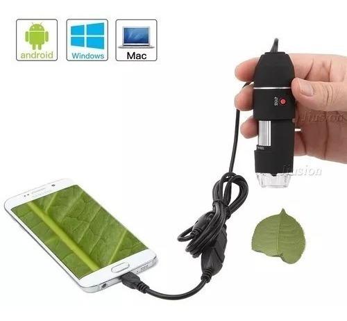 Microscópio Digital 1600x Windows Mac Samsung