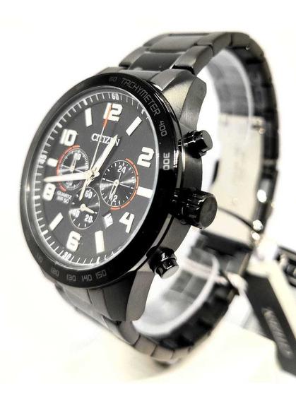 Relógio Original Citizen Preto Todo Em Aço Tz31454p