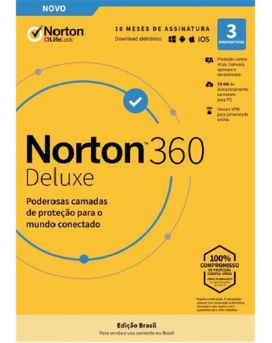 Norton 360 Deluxe 1 Pc 12 Meses - Antivirus