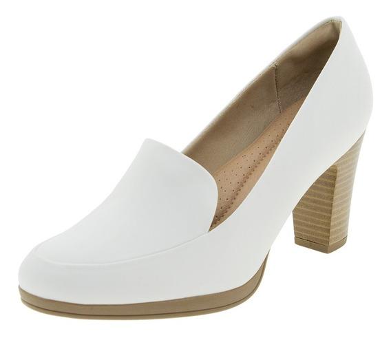 Sapato Feminino Salto Alto Branco Piccadilly - 130189