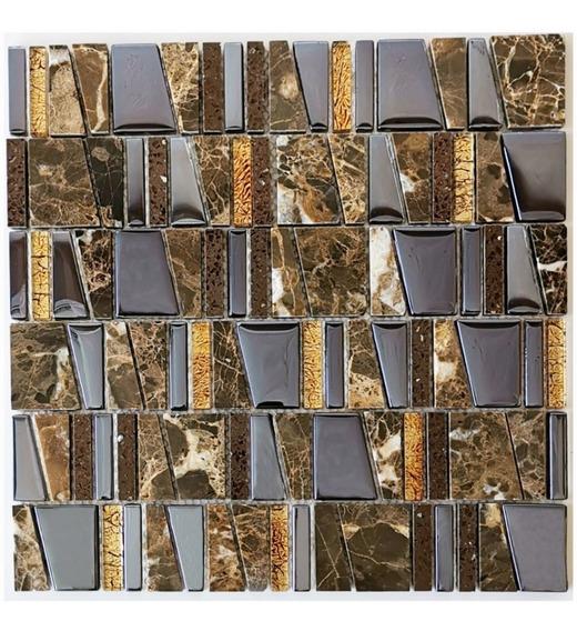 3 X Malla Mosaico Decoratia Cenefa Vidrio Marmol Vidrio Gala