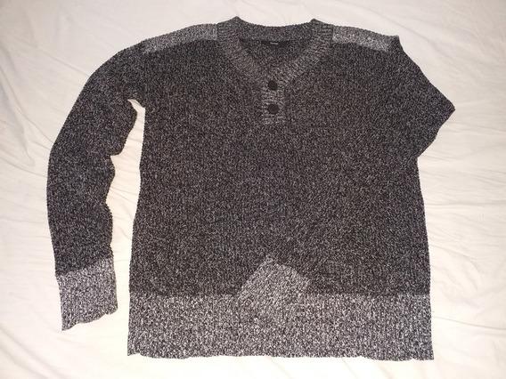 Suéter Sweate Color Gris Fantasía Talle L Marca George