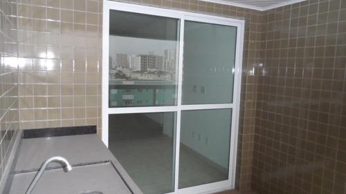 Apartamento Com 3 Dormitórios À Venda, 103 M² Por R$ 500.000,00 - Canto Do Forte - Praia Grande/sp - Ap4998