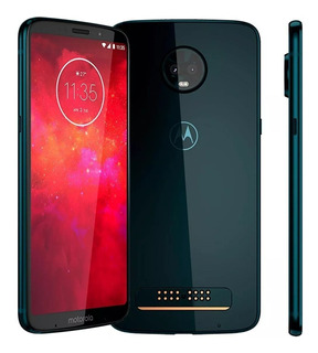 Motorola Moto Z3 Play Xt1929-5 64gb Indigo Original Vitrine
