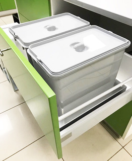 Porta Residuos Triple Para Cajon De 60cm