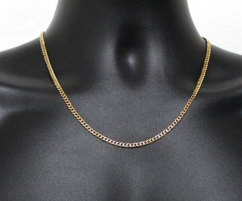Collar Cadena Acero Dorado Baño Oro 18k Nuevo Importado